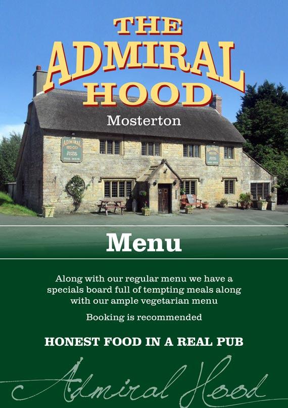 Admiral Hood Food Menu
