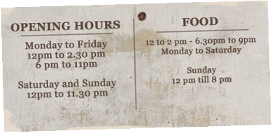 Pub opening times
