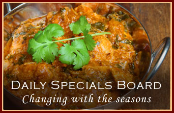 Daily Specials Board - Changing with the seasons