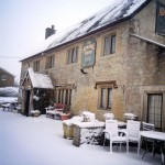 Pub in the snow