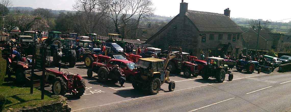 Admiralhood carpark full of tractors. The local tractor convention.