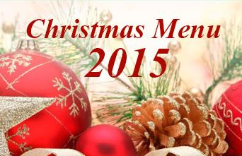 Christmas Menu 2015 with festive decourative design.